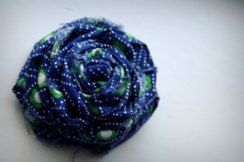 Rose blue with green flowers