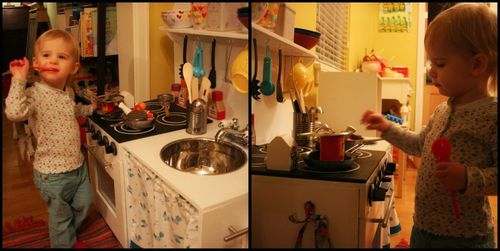 Thea with kitchen