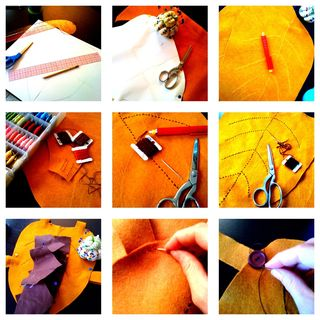 Leaf costume collage 1