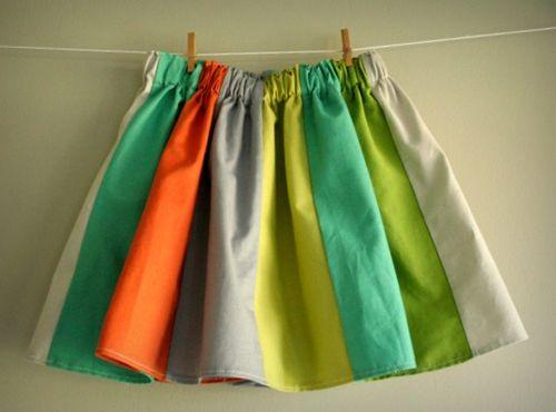 Panel skirt hanging