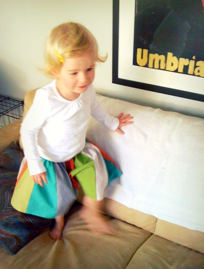 Panel skirt jumping