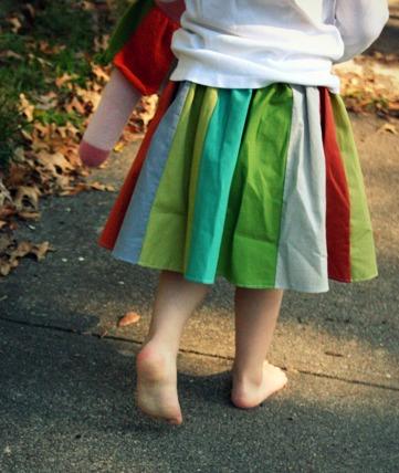 Panel skirt back