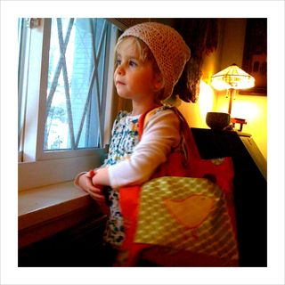 Thea with bag