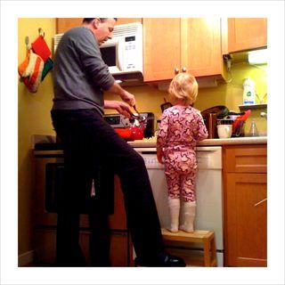 Thea on stool