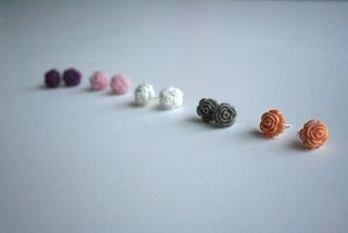 Rose earrings 1