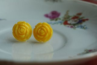 Bright yellow earrings 2