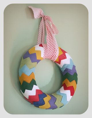 Chevron wreath 1